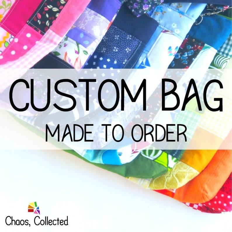 Patchwork Bag CUSTOM MADE  Upcycled Bag  Medium  Eco image 0