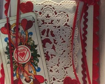 Vintage Valentines ornament card