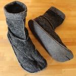 Toebiter Tabi slippers, made to order, felt sole