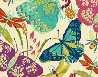 Butterfly Dance, Cream 1 Yard