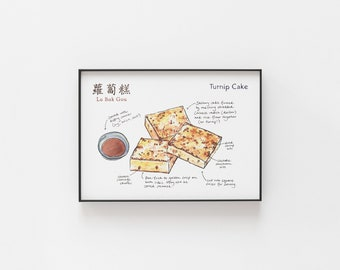 Turnip Cake Archival Print