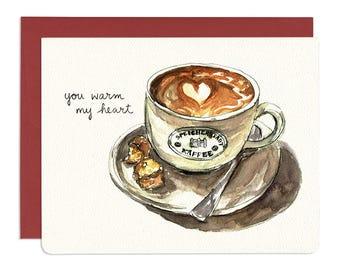 You Warm My Heart Card