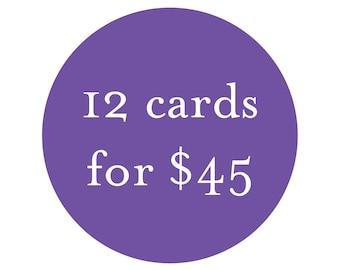 Bulk Card Discount - 12 cards for 45