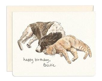 Bestie Birthday Card