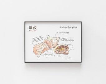 Shrimp Dumpling Archival Print