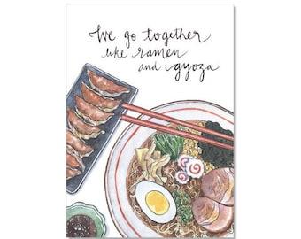 Ramen & Gyoza Archival Print