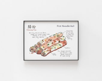Rice Noodle Roll Archival Print