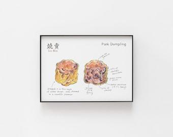 Siu Mai Pork Dumpling Archival Print