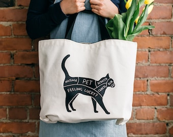 Cat Petting Guide Eco Tote   Perfect Cat Lover Gift