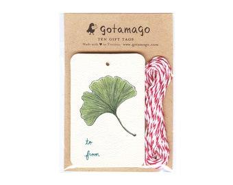 Gingko Gift Tags, Set of 10