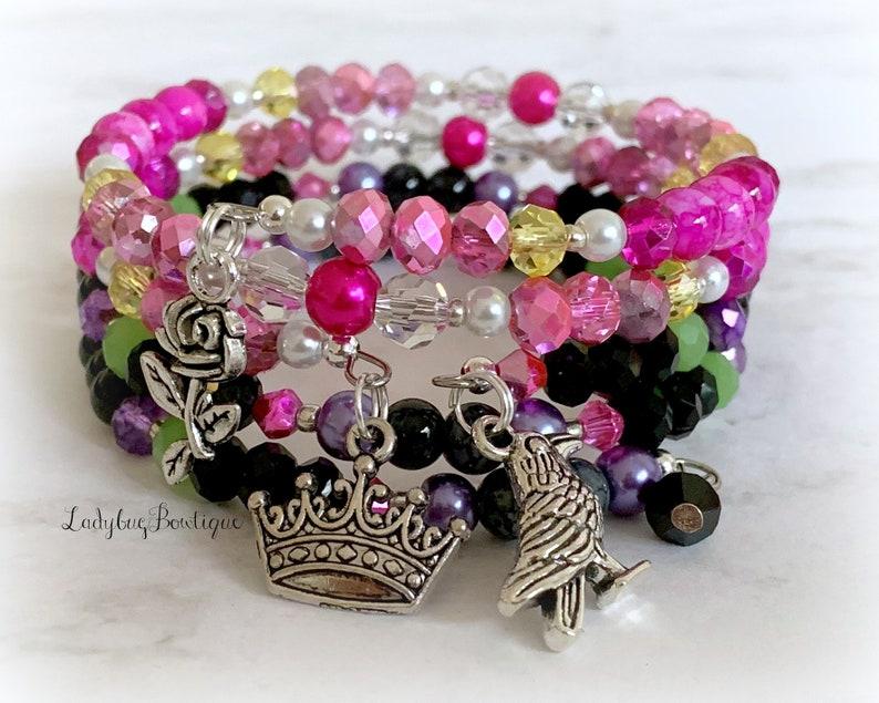 Sleeping Beauty & Maleficent Disney Wrap Bracelet Set of 2 image 0