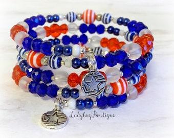 Captain America Infinity Wrap Bracelet Memory Wire Wraparound Disney Marvel Comic Fandom Cosplay Star Shield Charm Superhero Cosplay Outfit
