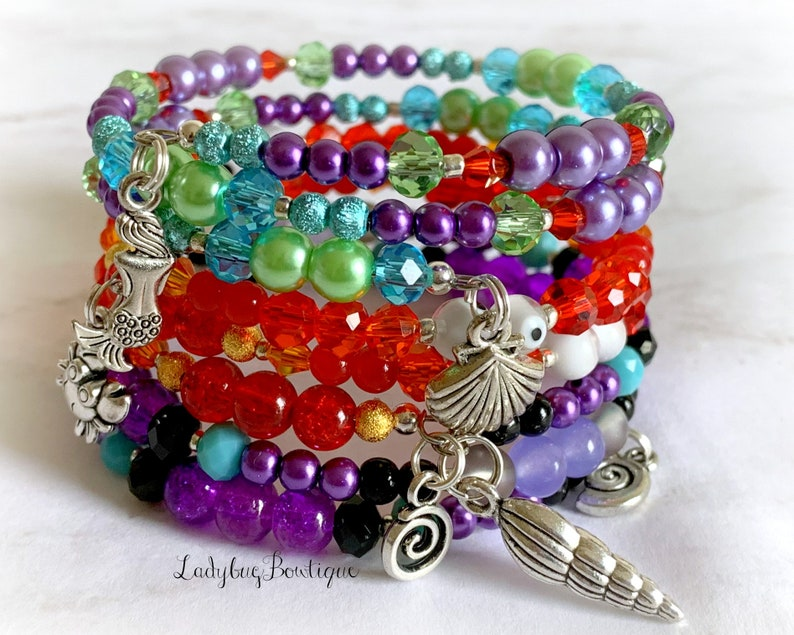 The Little Mermaid Disney Wrap Bracelet Stacking Set of 3 image 0