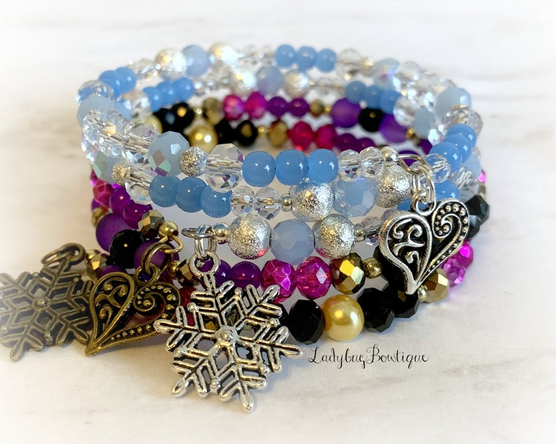 Anna & Elsa Frozen II Disney Wrap Bracelet Stacking Set of 2 image 0