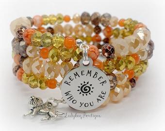 Remember Who You Are Lion King Infinity Wrap Bracelet Mufasa Simba Memory Wire Disney Movie Character Jewelry Accessories Hakuna Matata Fall