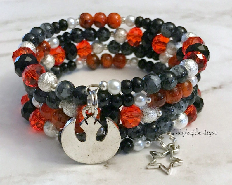 Star Wars Bracelet Rebel Alliance Infinity Wrap Memory Wire image 0