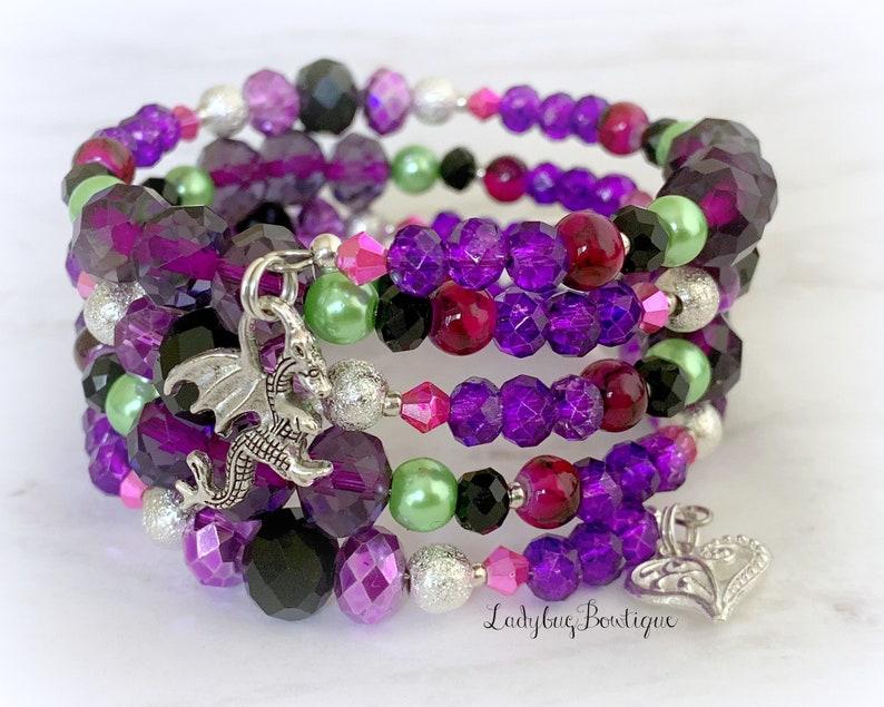 Descendants Mal Infinity Wrap Bracelet Disney Maleficent image 0