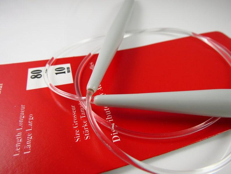 made of  aluminum Siz e  4.5mm    1 umit  1490 Aero       80cm  Circular  Knitting Needles