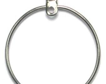 25mm Silver Ear Hoops -24 Pieces - 4736  1052
