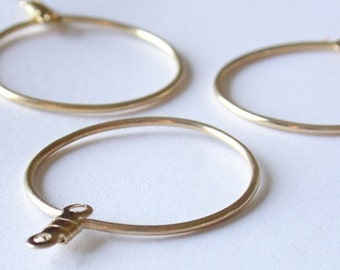 Large Round Gold Earring Hoops - 25mm24Pieces - 1050
