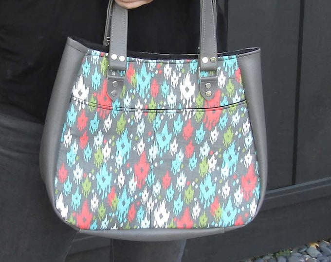 Featured listing image: Cute and functional purse tote bag- ikat
