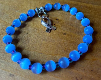 You pick the color Cancer Awareness HOPE Bracelet - custom made in your size!