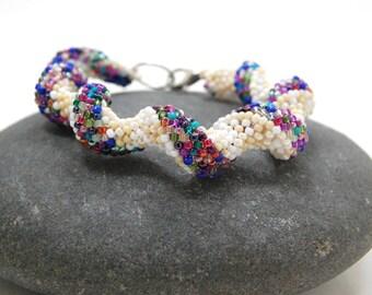 Peyote Bracelet, Beaded Bracelet, Beadwoven Bracelet, Handmade Jewlery, Gift for Her