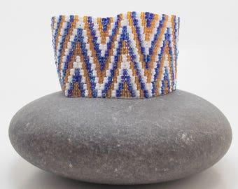 Peyote Bracelet, Beaded Bracelet, Cuff, Gift for Her, Beadwoven Bracelet, Handmade Jewlery, Birthday Gift