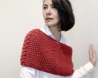 Back warmer knitted wrap