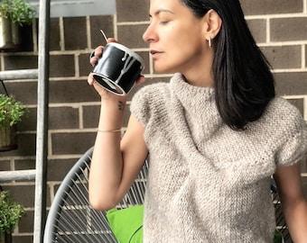 Ready to ship - Short sleeve Handmade Sweater