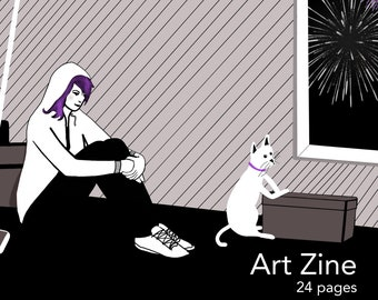 Art and Stories Zine, 24 pages full color Thirteenth Story 5