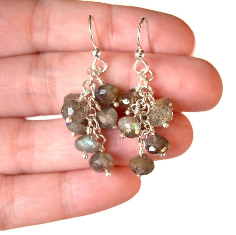 Labradorite And Sterling Silver Earrings image 0