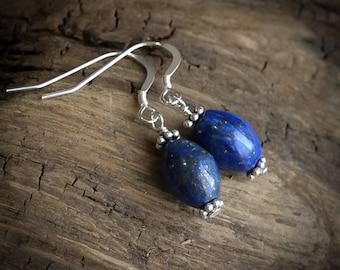 Lapis Lazuli Earrings in .925 Sterling Silver