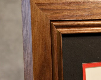 Walnut Diploma Frame, perfect in any office or home office. Great graduation gift too. Fade Resistant Glass (UV).