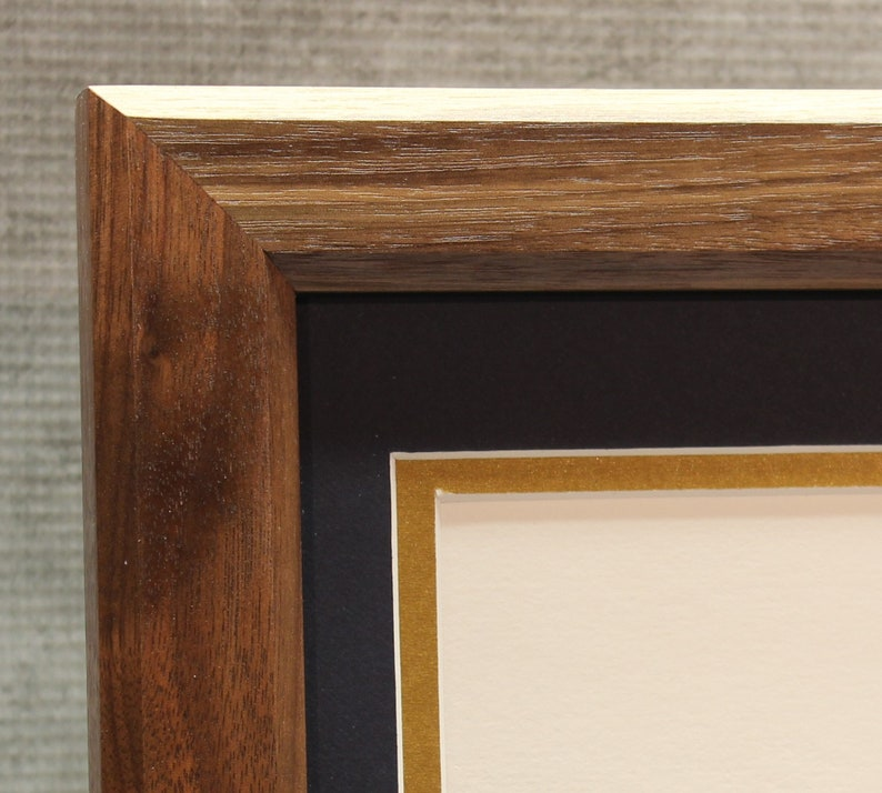 Certificate Frame Walnut Traditional Office Decor Home image 0