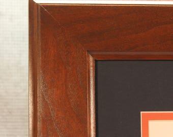 Double Diploma Frame, Cherry Frame, 8.5 x 11, Home Office, Office Decor, Graduation Gift