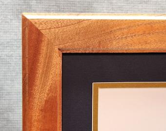 Diploma Frame, 8 1/2 x 11 Diploma, Mahogany Frame, Office Decor, Graduation Gift