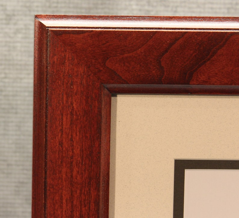 Graduation Gift Diploma Frame Traditional Cherry Frame image 0