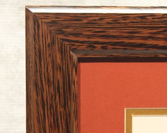 Diploma Frame, Exotic Wenge Wood, High End Office Decor, 11 x 14 Diploma