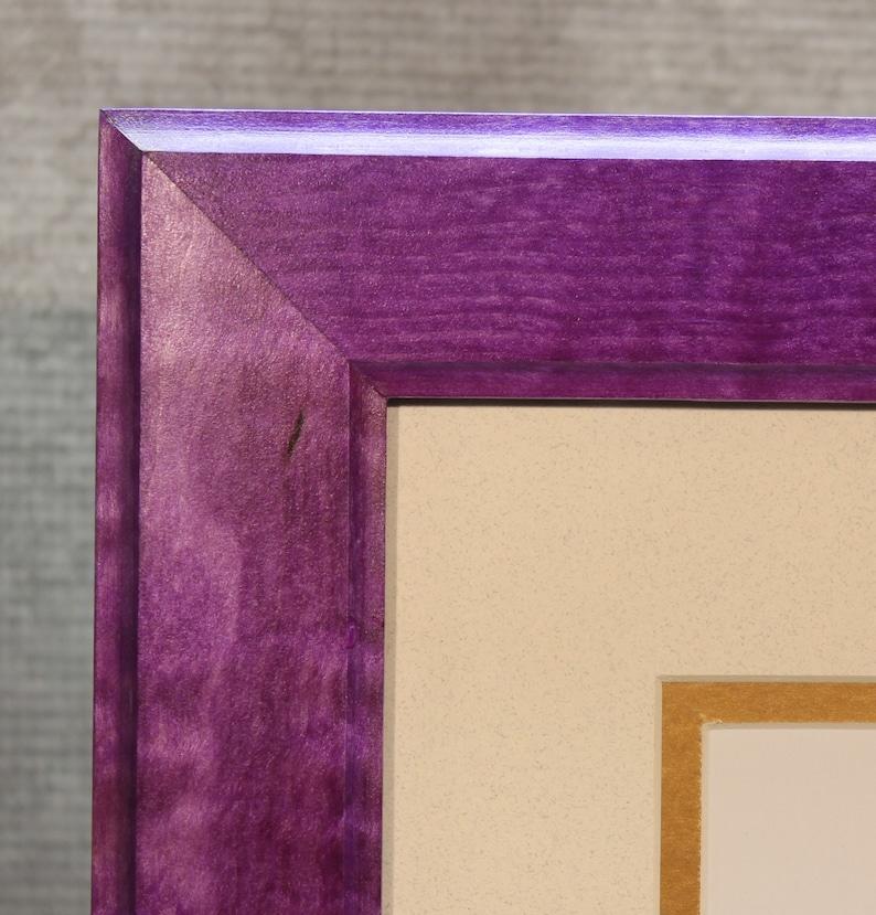 Stunning Purple Solid Tiger Maple Diploma Frame image 0