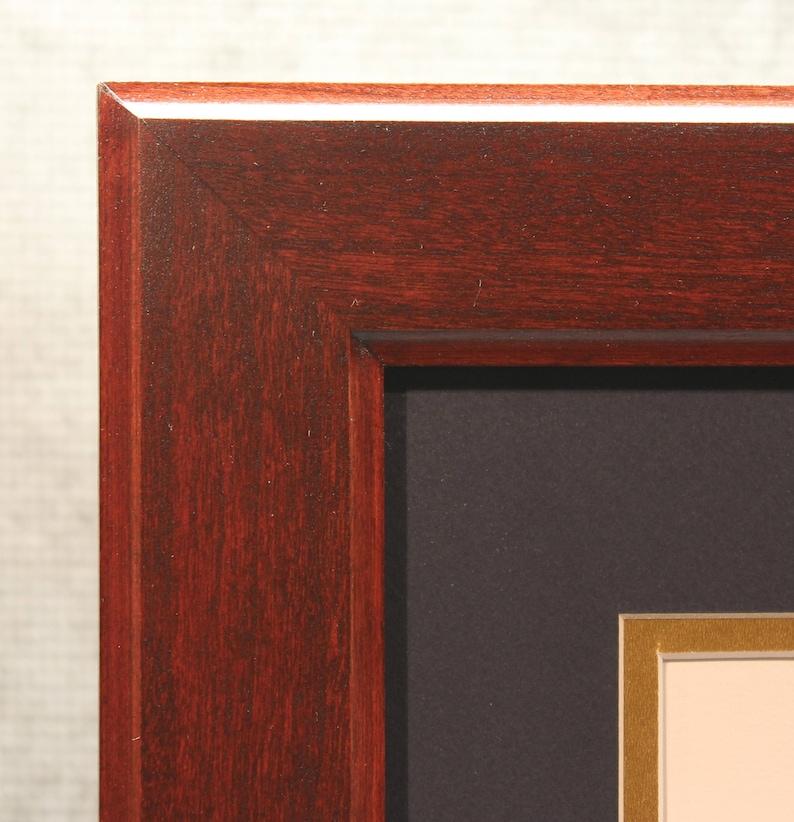 Double Diploma Frame Graduation Office Decor 8 1/2 x 11 image 0