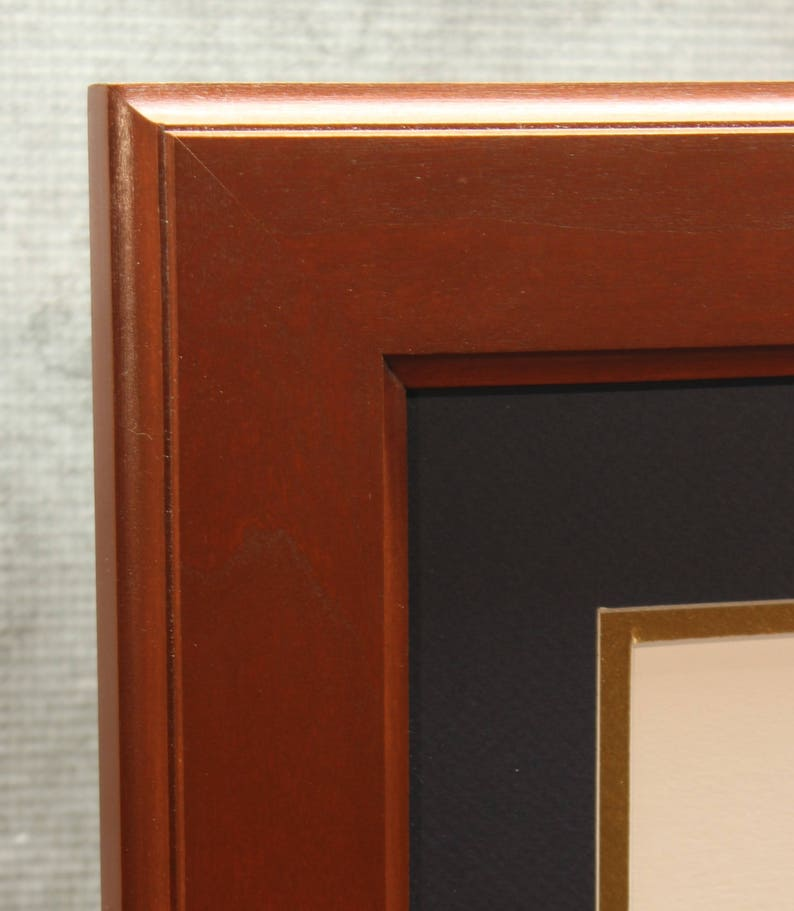 Double Diploma Frame Cherry Frame 8.5 x 11 Home Office image 0