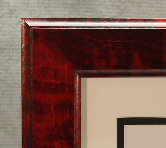 Diploma Frame 8 12 X 11 Remarkable Red Tiger Maple Etsy