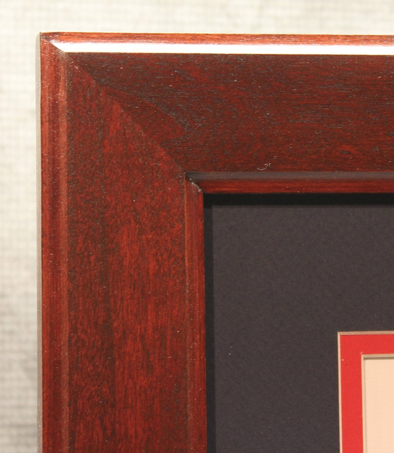 Double Diploma Frame Solid Cherry Beautiful Office Decor image 0
