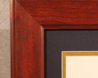 Graduation Gift, Diploma Frame, Traditional, Cherry Frame