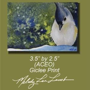 Crow Full Moon Bird Art Melody Lea Lamb ACEO Print