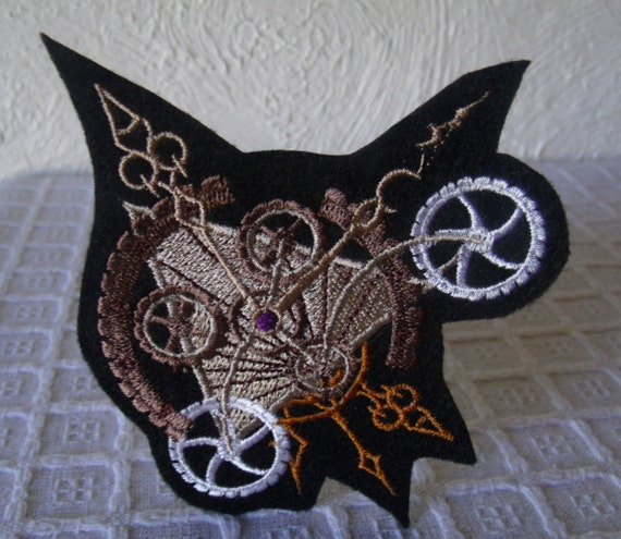 Iron On Patch Heart Gears Heart Patch Steampunk Gears Steampunk Gifts Gothic Gifts Victorian Inspired Steampunk Heart Goth Patches
