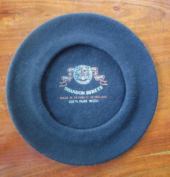 Black Beret, Black Wool Beret, Black Hat, Shandon… - image 2