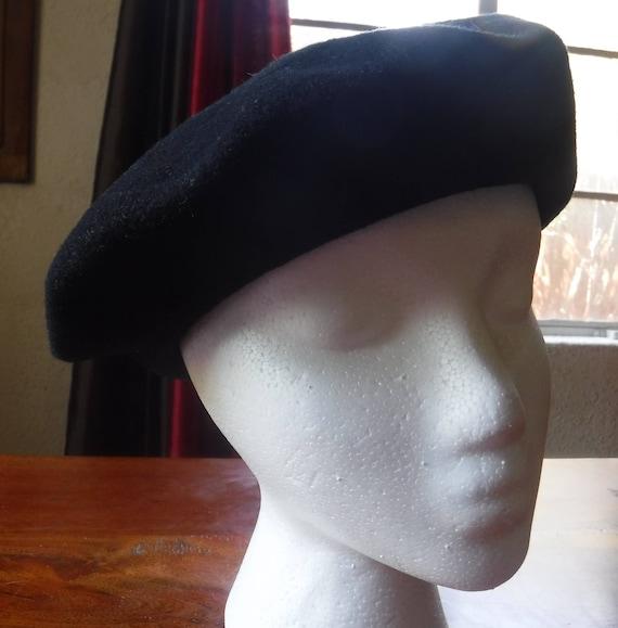 Black Beret, Black Wool Beret, Black Hat, Shandon… - image 5