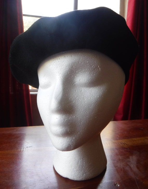 Black Beret - Irish Wool Hat - Shandon Beret - Bla